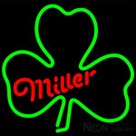 Miller Green Clover Neon Sign 16x16