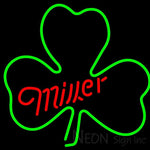 Miller Green Clover Neon Sign 24x24