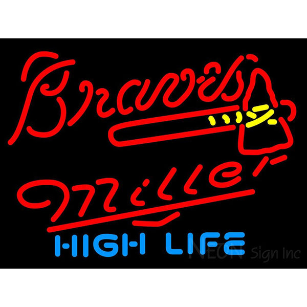 Miller High Life Atlanta Braves MLB Neon Sign 3 0012