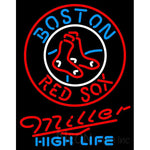 Miller High Life Boston Red Sox MLB Neon Sign 3 0010
