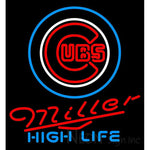 Miller High Life Chicago Cubs MLB Neon Sign 3 0010