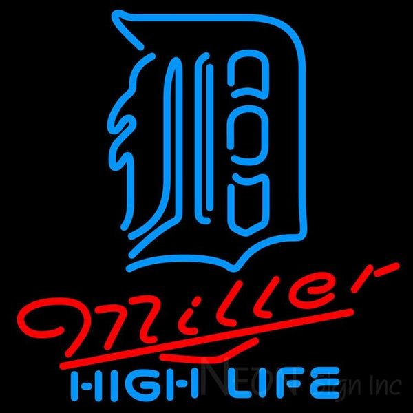 Miller High Life Detroit Tigers MLB Neon Sign 3 0012 24x24