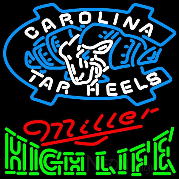 Miller High Life Green Unc North Carolina Tar Heels MLB Neon Sign 3