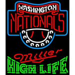 Miller High Life Green Washington Nationals MLB Neon Sign 3 0015