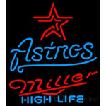 Miller High Life Houston Astros MLB Neon Sign 3 0012