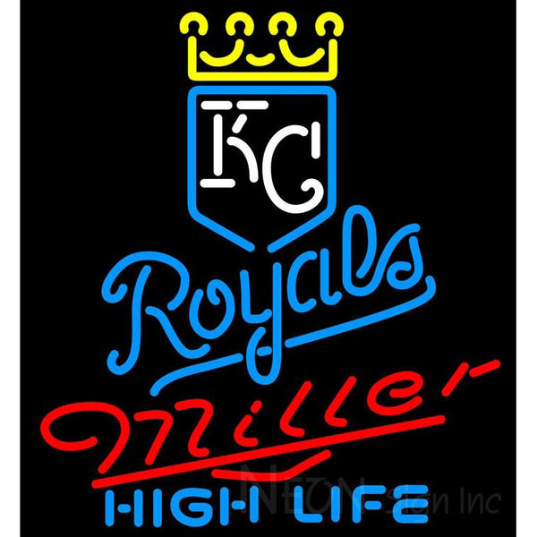 Miller High Life Kansas City Royals MLB Neon Signs 3 0011