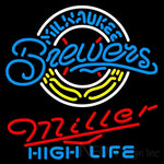 Miller High Life Milwaukee Brewers MLB Neon Sign 3 0017