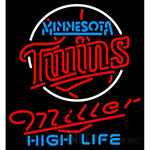 Miller High Life Minnesota Twins MLB Neon Sign 3 0017