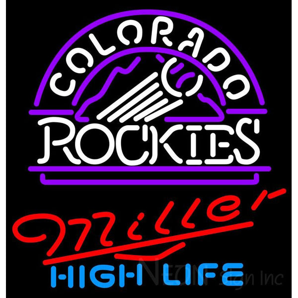 Miller High Life Neon Colorado Rockies MLB Neon Sign 3 0012
