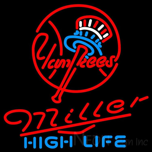 Miller High Life New York Yankees MLB Neon Sign 3 0015