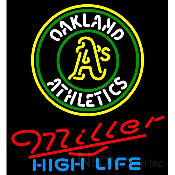 Miller High Life Oakland As MLB Neon Sign 3 0017