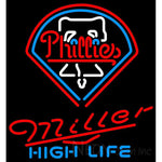 Miller High Life Philadelphia Phillies MLB Neon Sign 3 0017