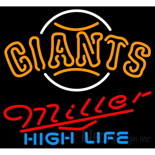 Miller High Life San Francisco Giants MLB Neon Sign 3 0017
