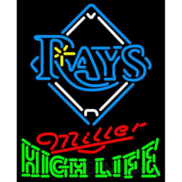 Miller High Life Tampa Bay Rays MLB Neon Sign 3 0015