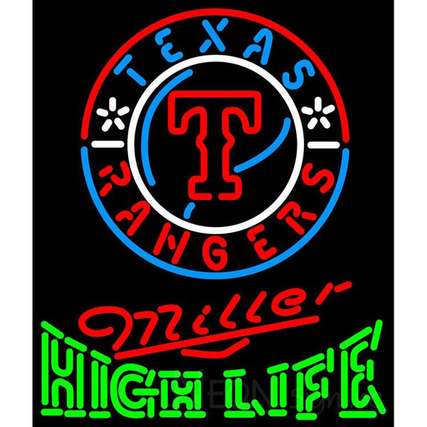 Miller High Life Texas Rangers MLB Neon Sign 3 0015