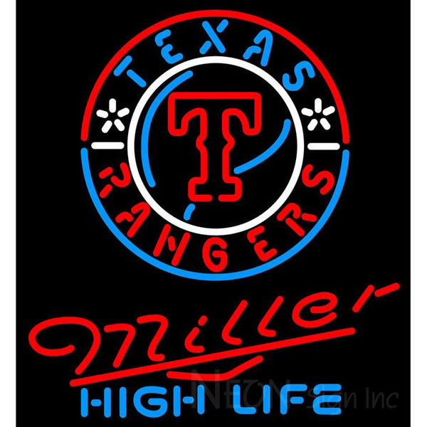Miller High Life Texas Rangers MLB Neon Sign 3 0017
