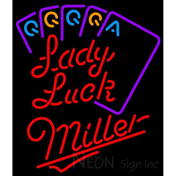 Miller Lady Luck Series Neon Sign