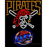 Miller Light Pittsburgh Pirates MLB Neon Sign 3 0010
