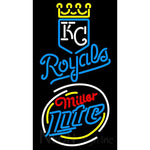 Miller Light Rounded Kansas City Royals MLB Neon Signs 3 0021