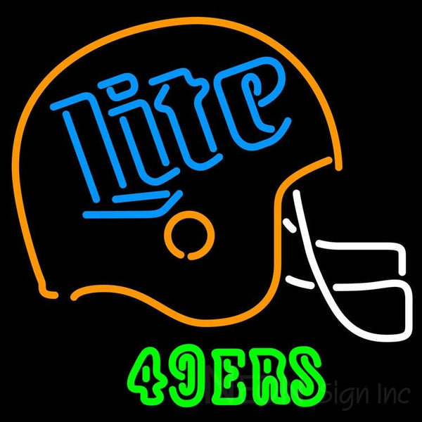 Miller Lite 49ers Neon Beer Sign 24x24