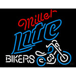 Miller Lite Bikers Neon Beer Sign