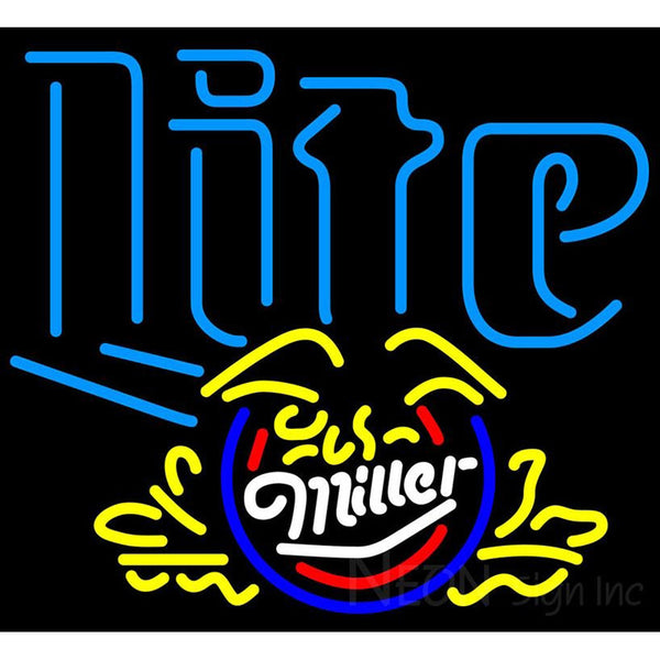 Miller Lite Eagle Cresent Neon Beer Sign