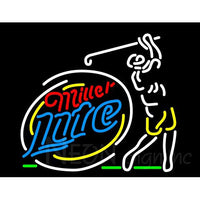 Miller Lite Golfer Neon Beer Sign