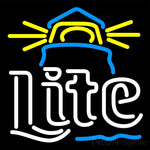 Miller Lite Lighthouse Neon Beer Sign 16x16