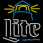 Miller Lite Lighthouse Neon Beer Sign 24x24