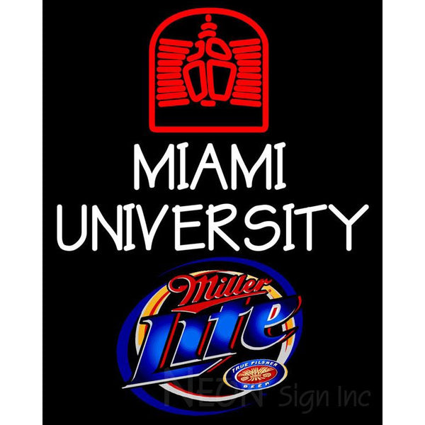 Miller Lite Miami UNIVERSITY Neon Sign 4 00017
