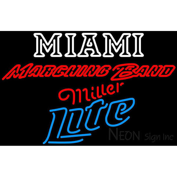 Miller Lite Neon Miami UNIVERSITY Band Board Neon Sign 4 0026