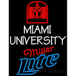 Miller Lite Neon Miami UNIVERSITY Neon Sign 4 00025