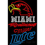 Miller Lite Neon Miami UNIVERSITY Redhawks Neon Sign 4 0026