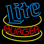 Miller Lite Hamburger Neon Beer Sign 24x24