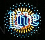 Miller Lite Starburst Neon Beer Sign