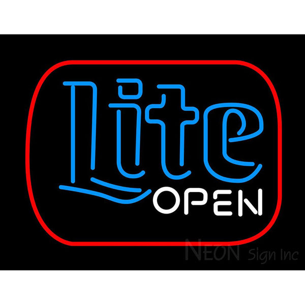 Miller Lite Open Neon Beer Sign