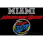 Miller Lite Rounded Miami UNIVERSITY Band Board Neon Sign 4 0027