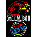 Miller Lite Rounded Miami UNIVERSITY Fall Session Neon Sign 4 0025