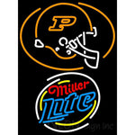 Miller Lite Rounded Purdue University Calumet Neon Sign 4 0028