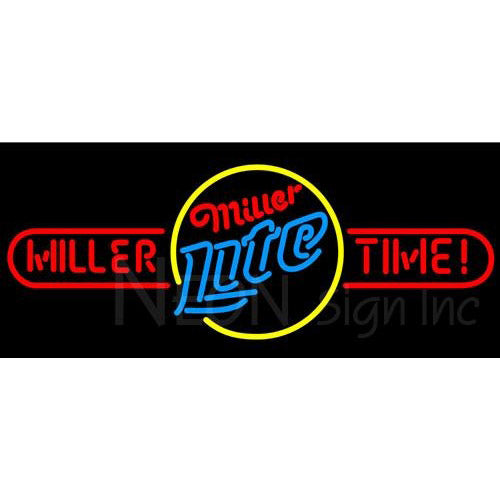Miller Lite Time Long Neon Beer Signs