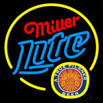 Miller Lite True Pilsner Circle Neon Beer Sign 16x16