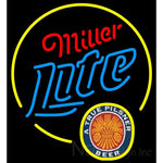 Miller Lite True Pilsner Circle Neon Beer Sign 22x24