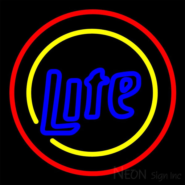 Miller Lite Two Sided Round Neon Beer Sign 16x16