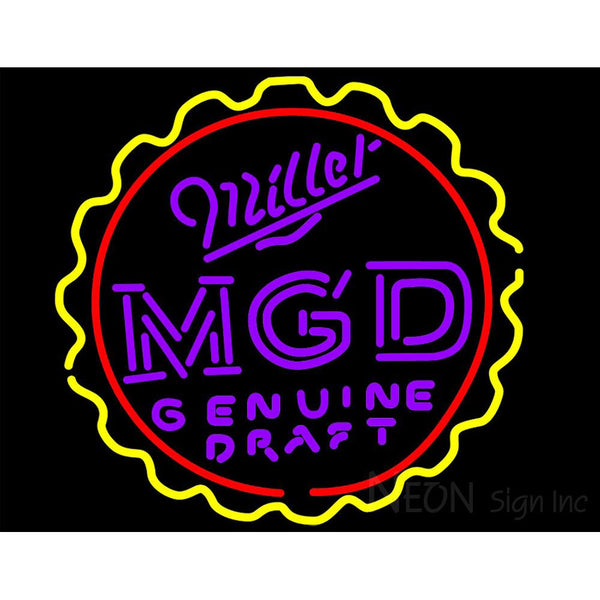 Miller Mgd Genuine Draft Neon Sign