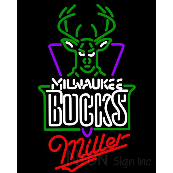Miller Milwaukee Bucks NBA Neon Sign