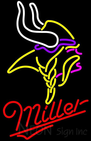 Miller Minnesota Vikings NFL Neon Sign