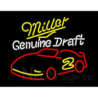 Miller Nascar Rusty Wallace 2 Neon Beer Sign