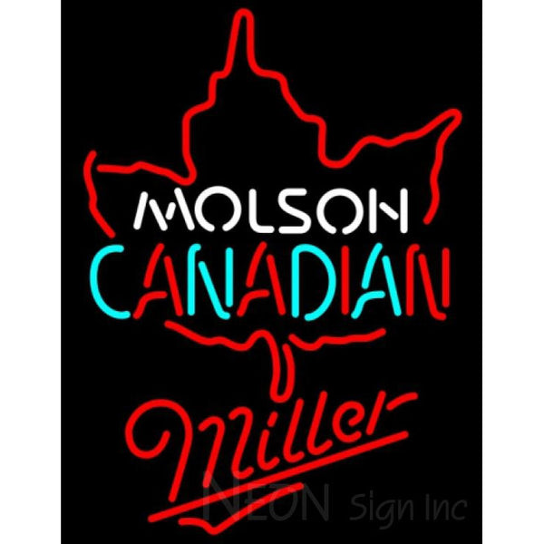 Miller Neon Molson Leaf Hockey Neon Sign 5 0003