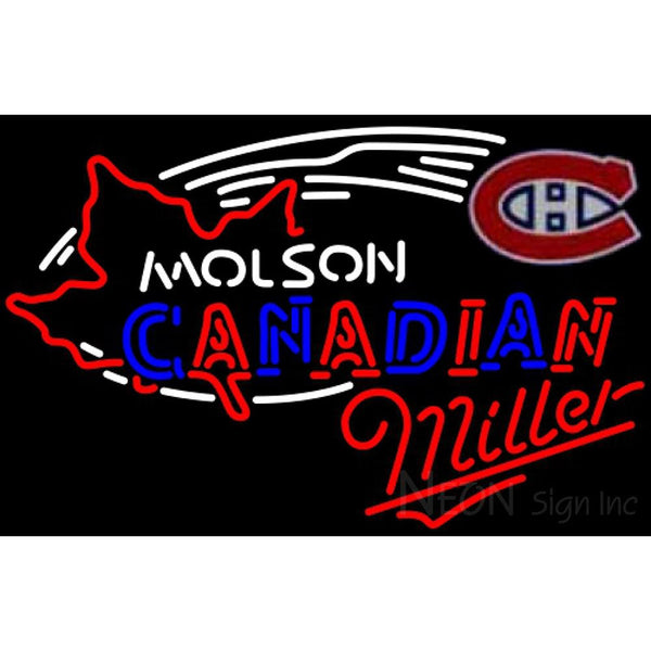 Miller Neon Molson Montreal Canadians Hockey Neon Sign 5 0004