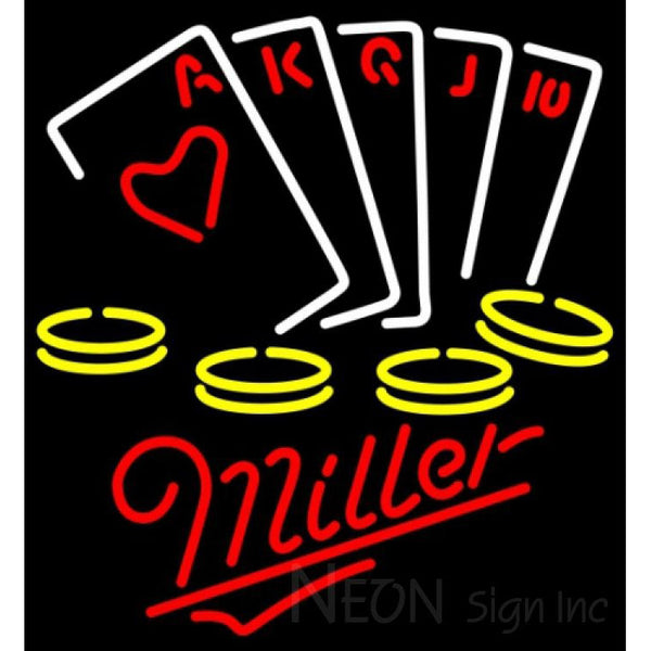 Miller Neon Poker Ace Series Neon Sign 7 0001
